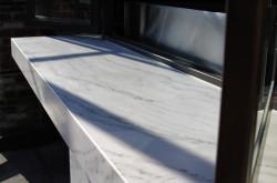 "notranja polica marmor ""bianco carrara"""