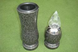 """nagrobna vaza in lučka granit """"impala africa"""""""