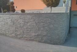"obloga ograje dekorativni kamen ""kvarcit zeleni"""