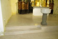 "tlak cerkev Juršinci marmor ""botticino"""